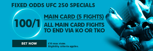 UFC/MMA Fixed Odds Betting - UFC 250 (Specials - June 7th)