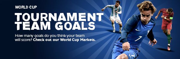 Spread Bet on World Cup - Tournament Goal Markets