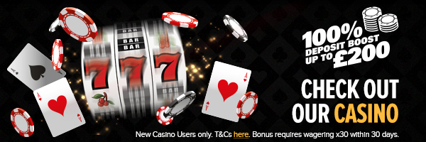 Casino launch slider