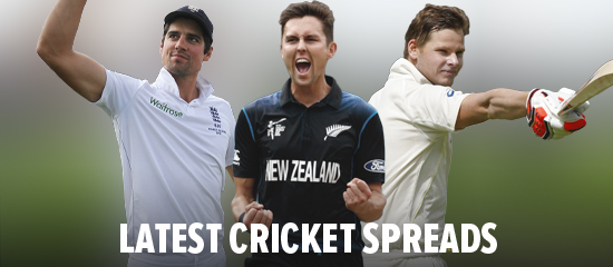 Get the latest cricket spreads at Sportingindex.com