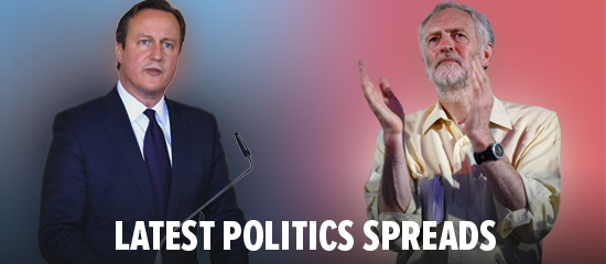 View spread bets on politics including UK election betting on Sporting Index